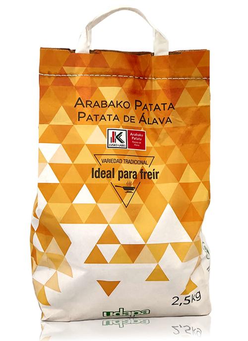 Patata de Álava especial freír con sello de Eusko Label